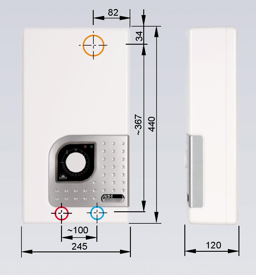 elektronischer durchlauferhitzer kde 9 27 kw 400 v 3 kospel neu ebay. Black Bedroom Furniture Sets. Home Design Ideas