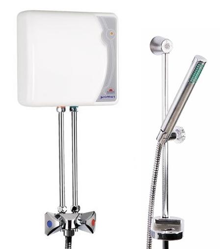 klein durchlauferhitzer 5 5 kw drucklos mit dusch armatur epj p primus 230v ebay. Black Bedroom Furniture Sets. Home Design Ideas