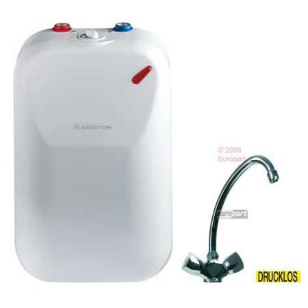 warmwasserspeicher ariston 5 l unten boiler mit armatur und sicherheitsventil. Black Bedroom Furniture Sets. Home Design Ideas